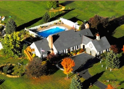 Annville Inn Bed & Breakfast, aerial view
