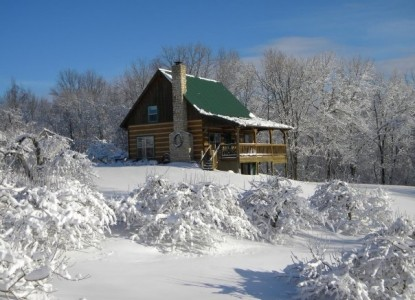 Cabin in the Orchard Bed & Breakfast snow day