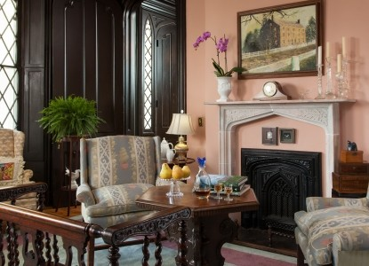 1853 Inn at Woodhaven fireplace