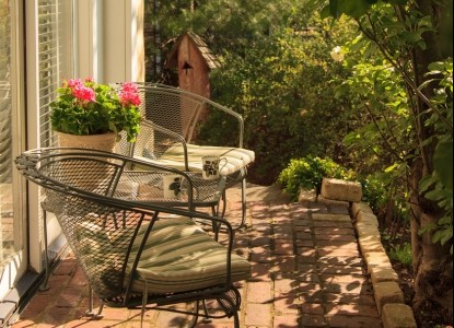 1853 Inn at Woodhaven, chairs on patio