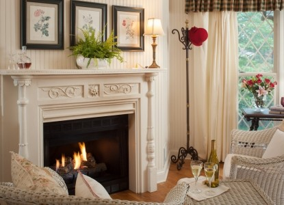 1853 Inn at Woodhaven, fireplace