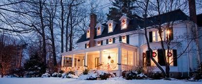 Birchwood Inn, winter snow