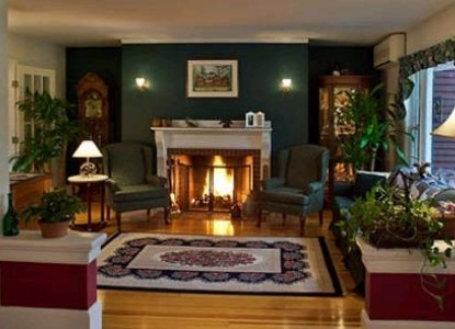 The Cabernet Inn fireplace