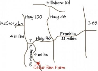 The Cabin at Cedar Run Farm map