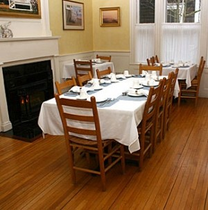 Brass Lantern Inn dining table