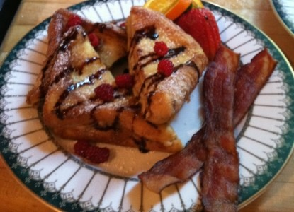 The Oaks Bed and Breakfast bacon