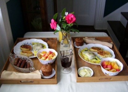 The Cedars Bed and Breakfast - Morning Breakfast