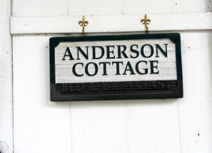 The Anderson Cottage Bed & Breakfast sign