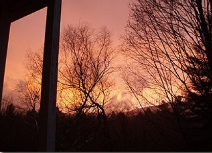 Mountain View Inn, sunset