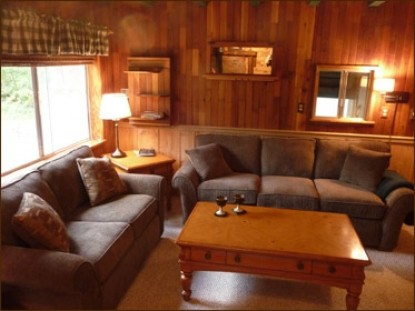 Mt. Rainier Cabins at Three Bears Lodge couches