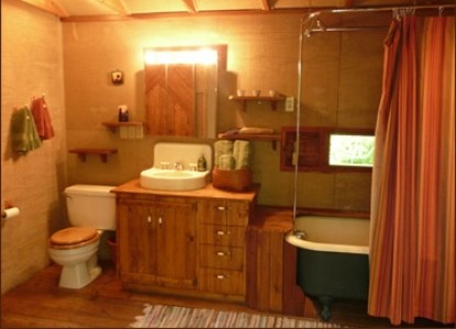 Mt. Rainier Cabins at Three Bears Lodge bathroom