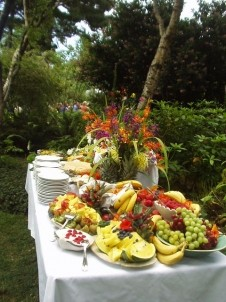 The Lost Whale Bed & Breakfast Inn wedding food
