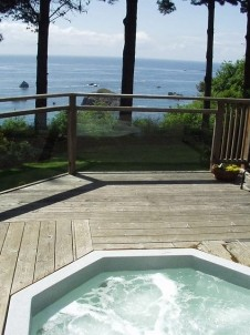 The Lost Whale Bed & Breakfast Inn hut tub with view