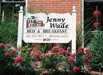 The Jenny Wade Bed and Breakfast, jenny wade marquee