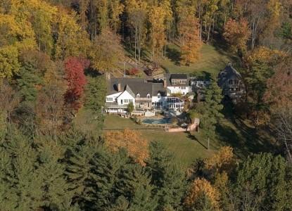 Inn at Bowman's Hill, aerial view
