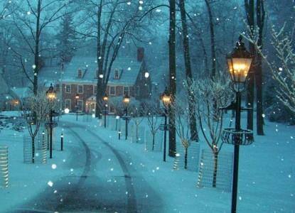 Inn at Bowman's Hill winter snow