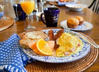The Inn at Manchester breakfast eggs