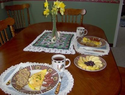 Clackamas River House, breakfast