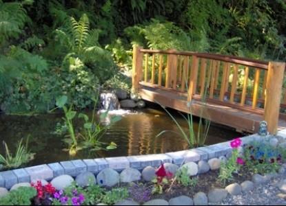 Clackamas River House, bridge