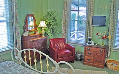 Meyer Bed and Breakfast on Cypress Creek couch