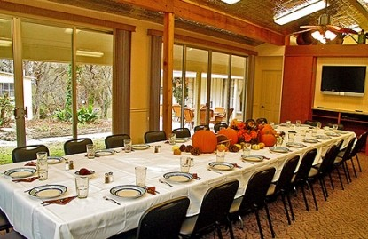 Meyer Bed and Breakfast on Cypress Creek table