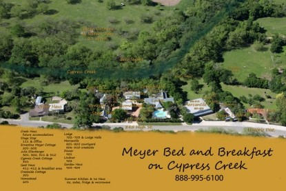 Meyer Bed and Breakfast on Cypress Creek map
