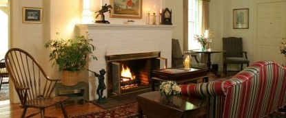 Fairville Inn Bed and Breakfast fireplace