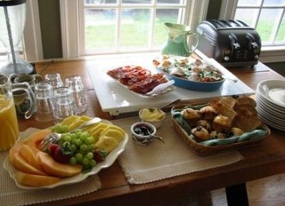 Inn at Huntingfield Creek breakfast