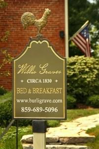 Burlington's Willis Graves Bed & Breakfast Inn front sign