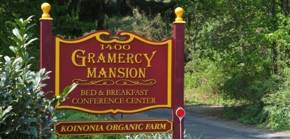 Gramercy Mansion Bed & Breakfast front sign