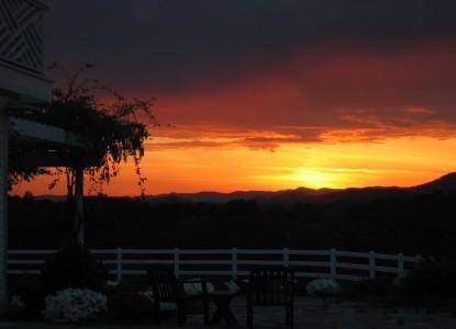 The Red Horse Inn Bed & Breakfast sunset