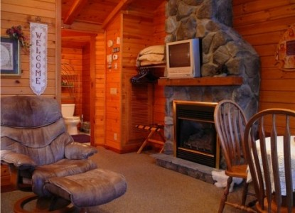 Fields of Home Lodge and Cabins fireplace