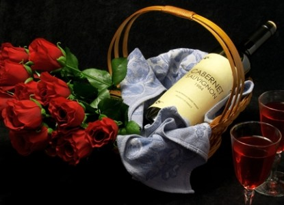 Surprise your sweetie with wine and truffles beautifully presented in your room!