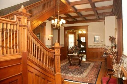 The Grand Anne Bed & Breakfast grand staircase