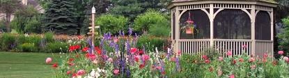 Flowers & Thyme Bed & Breakfast, gazebo &  flowers
