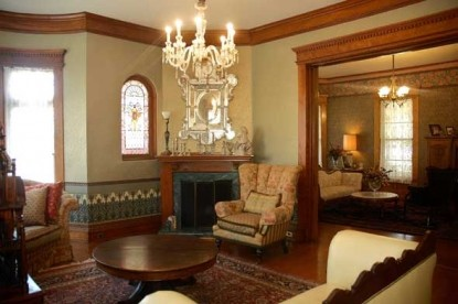 The Grand Anne Bed & Breakfast fireplace