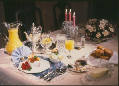 Delicious gourmet breakfasts are a hallmark of hospitality at Holden House...