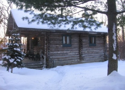 Walnut Ridge Bed & Breakfast Log Cabins, winter cabin