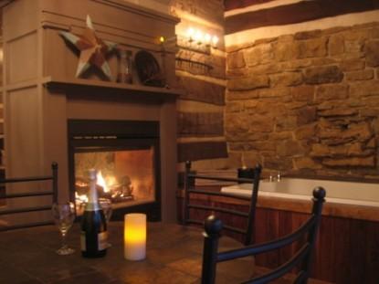 Walnut Ridge Bed & Breakfast Log Cabins, fireplace