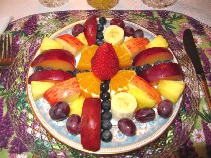 Eagle's View Bed and Breakfast, breakfast fruit