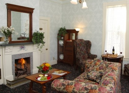 Gosby House Inn, A Four Sisters Inn, fireplace