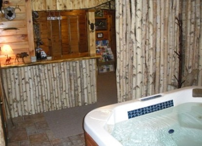 Moose Meadow Lodge, hot tub