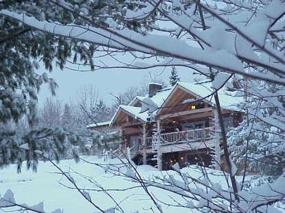 Moose Meadow Lodge, snowfall