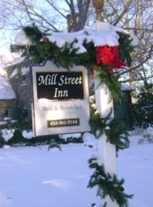 Mill Street Inn front sign