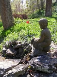 Asa Ransom House statue