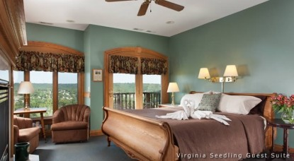 Hermann Hill Vineyard Inn & Spa, Riverbluff Cottages and Wedding Chapel-Bedroom