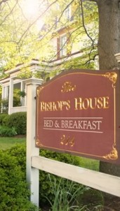 Bishop's House Bed and Breakfast front sign
