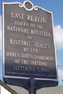 Bechtel Victorian Mansion Bed & Breakfast Inn East Berlin sign