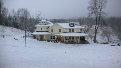 Beliveau Estate, winter snow