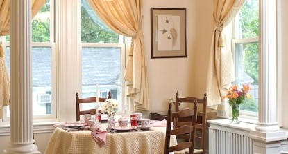 The Maine Stay Inn & Cottages dining table